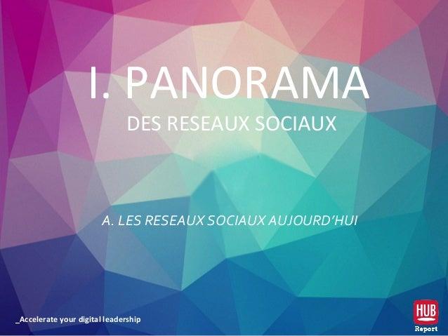 _Accelerate your digital leadership A. LES RESEAUX SOCIAUX AUJOURD'HUI I. PANORAMA DES RESEAUX SOCIAUX