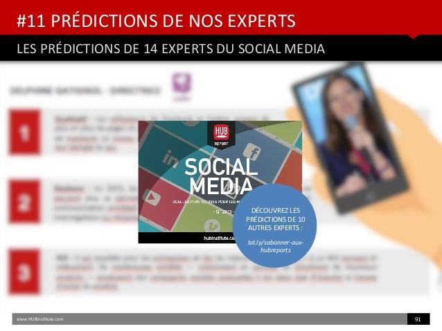 #11 PRÉDICTIONS DE NOS EXPERTS LES PRÉDICTIONS DE 14 EXPERTS DU SOCIAL MEDIA www.HUBinsttute.com 91 DÉCOUVREZ LES PRÉDICTI...