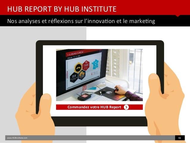 HUB REPORT BY HUB INSTITUTE Nos analyses et réfexions sur l'innovaton et le marketng www.HUBinsttute.com 93 Commandez votr...