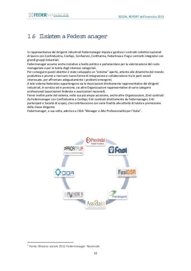 SOCIAL REPORT dell'esercizio 2013 12 PREVINDAI - www.previndai.it È il Fondo pensione dei dirigenti industriali il cui rap...