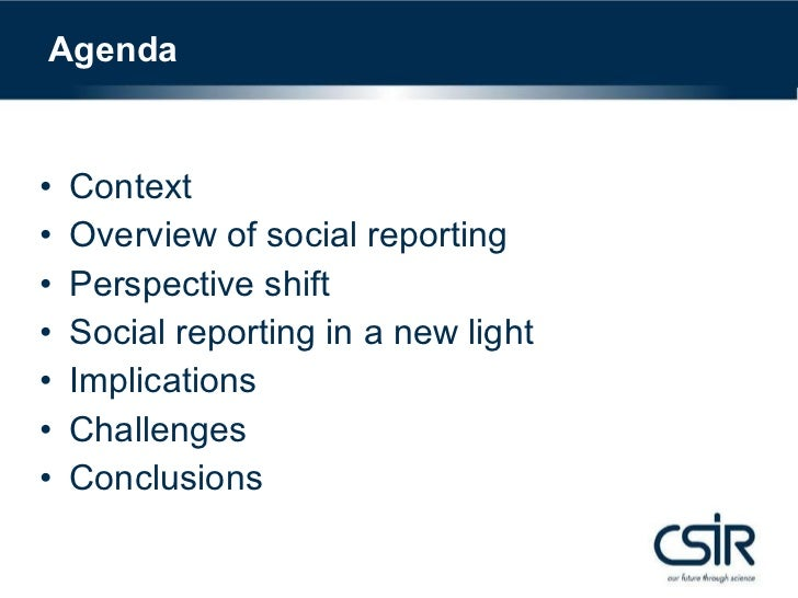 Make 2.0 real and relevant: the potential of social reporting as a catalyst to nurture adoption of social software in a research organisation Slide 3