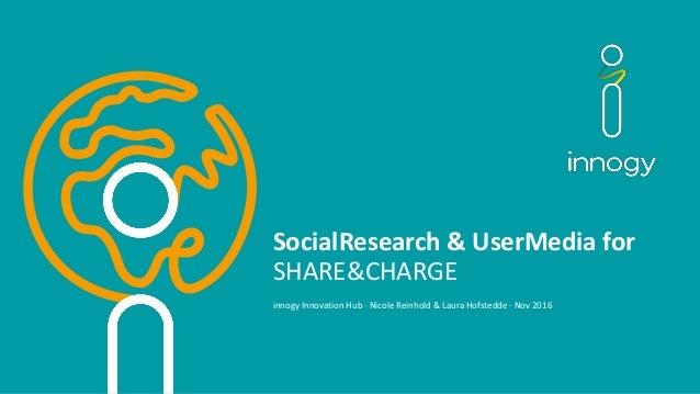 SocialResearch &UserMedia for SHARE&CHARGE innogyInnovationHub·NicoleReinhold&LauraHofstedde·Nov2016