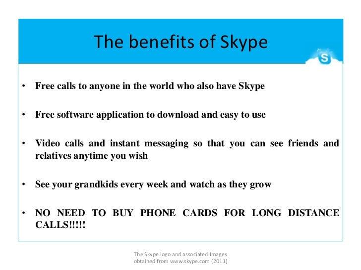 The benefits of Skype