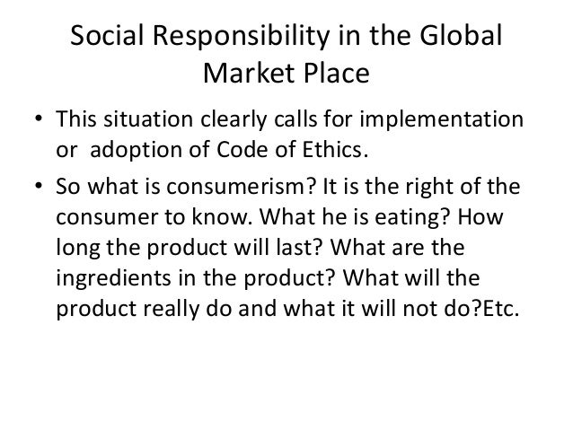 market ethics Ethics in marketing  consult the company's code of ethics to determine if standards have already been set about how much information you can use internally.
