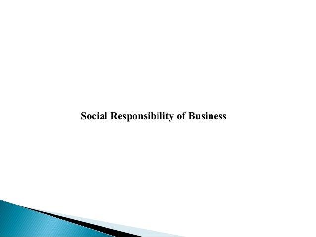Social obligation of business