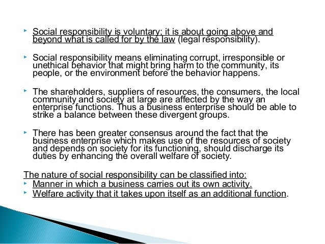 does corporate social responsibility make a Corporate social responsibility: the landscape corporate social responsibility encompasses dual objectives—pursuing benefits for the business and for society many businesses pursue csr activities that can best be termed pet projects, as they reflect the personal interests of individual senior executives.