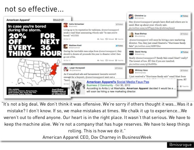 """not so effective...""""It's not a big deal. We don't think it was offensive. We're sorry if others thought it was…Was it a   ..."""