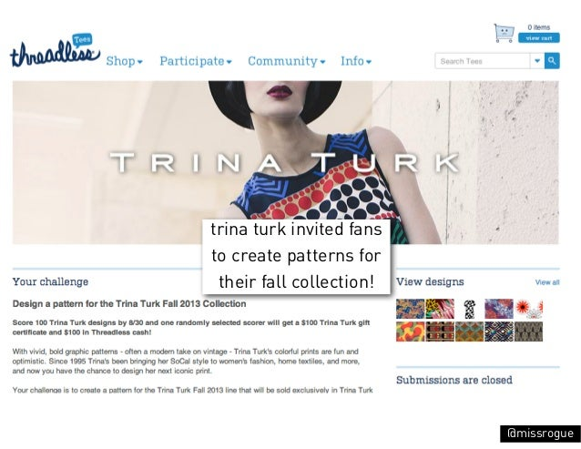 trina turk invited fansto create patterns for their fall collection!                          @missrogue