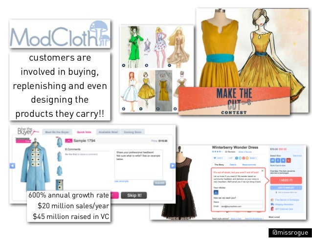 customers are  involved in buying,replenishing and even     designing the products they carry!!   600% annual growth rate ...