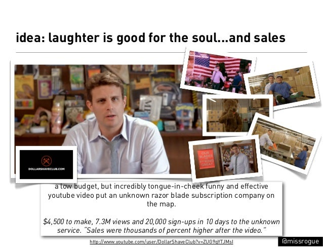 idea: laughter is good for the soul...and sales       a low budget, but incredibly tongue-in-cheek funny and effective    ...