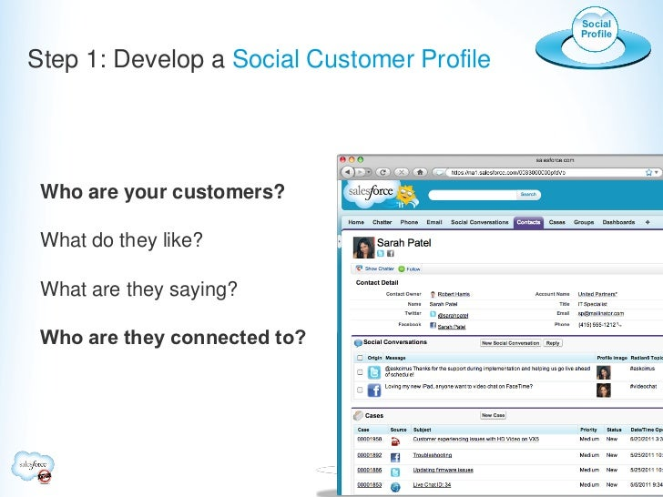 Social                                            ProfileStep 1: Develop a Social Customer Profile Who are your customers?...