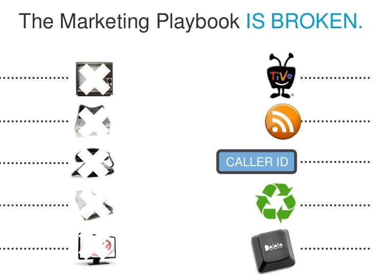 The Marketing Playbook IS BROKEN.                   CALLER ID