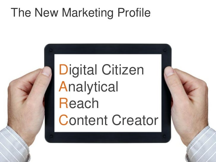 The New Marketing Profile        Digital Citizen        Analytical        Reach        Content Creator