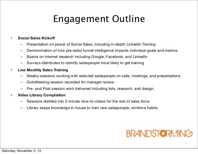2 engagement outline social sales
