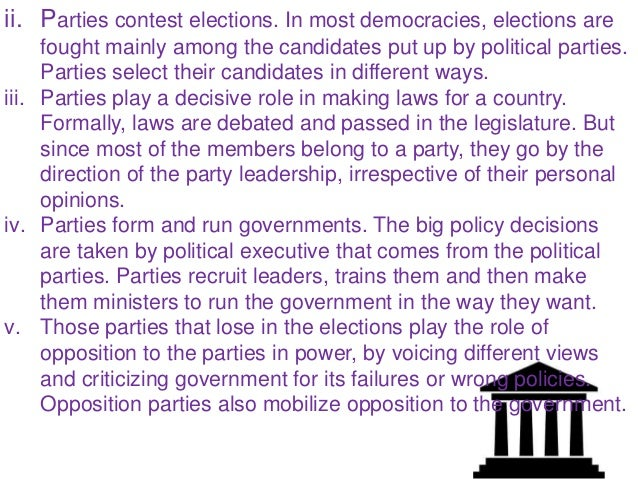 Political party classification essay