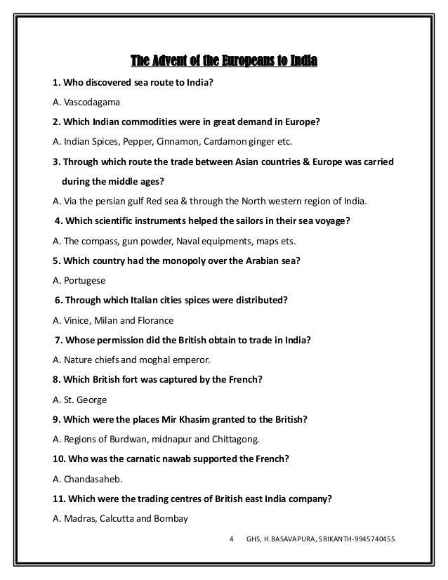 Social science english medium notes 2016