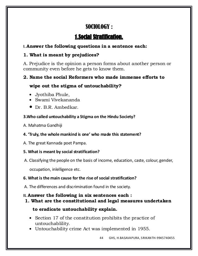 Social science english medium notes 2016