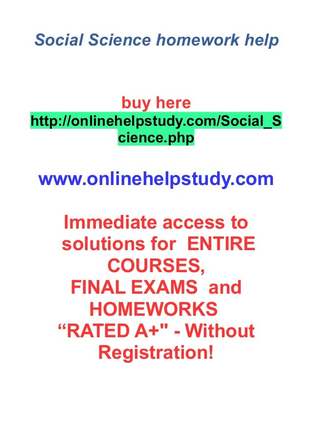 Get the Complete Science Homework Help at One Place