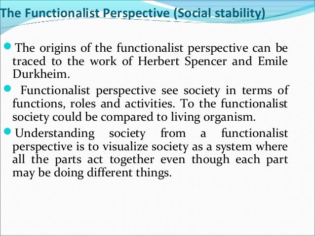 functionalism perspective on society