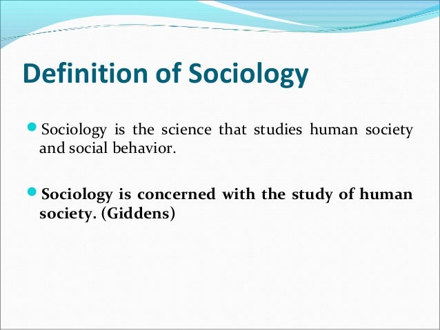 sociology research paper example