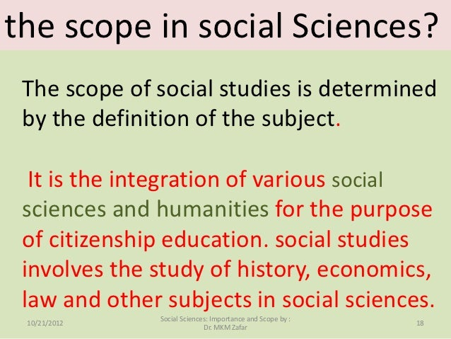 Social Sciences courses