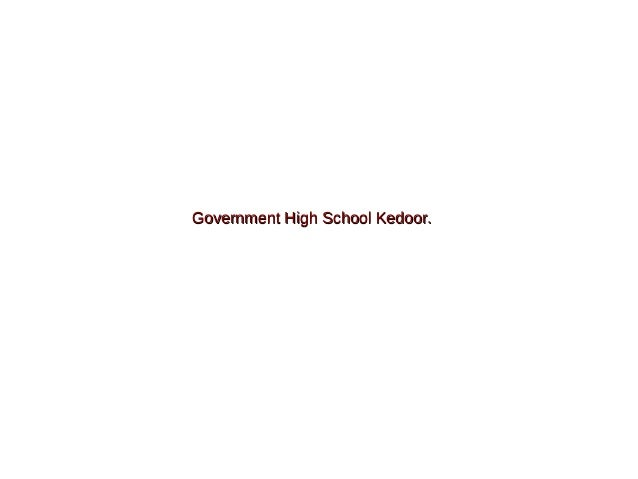 Government High School Kedoor.
