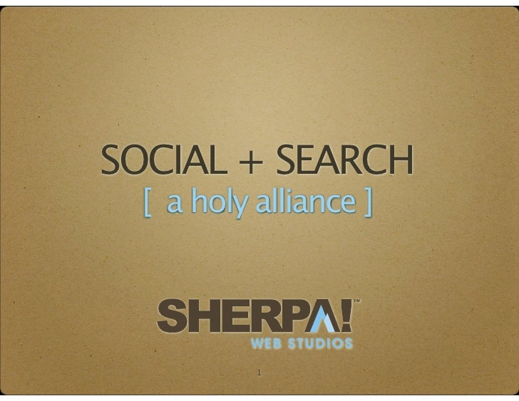 SOCIAL + SEARCH [ a holy alliance ]                       TM         WEB STUDIOS          1