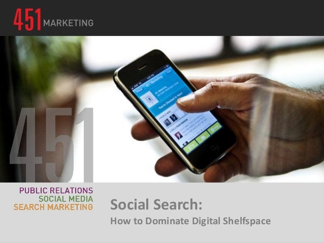 Social Search:How to Dominate Digital Shelfspace