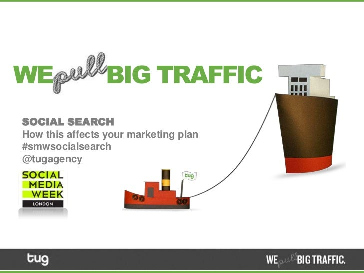WE               BIG TRAFFICSOCIAL SEARCHHow this affects your marketing plan#smwsocialsearch@tugagency