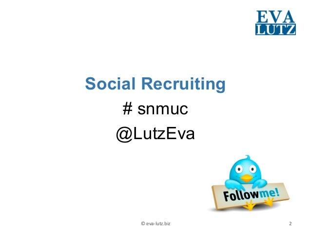 """""""Schulterblick und Du machst klick"""" Impulsvortrag zum Social Recruiting Slide 2"""