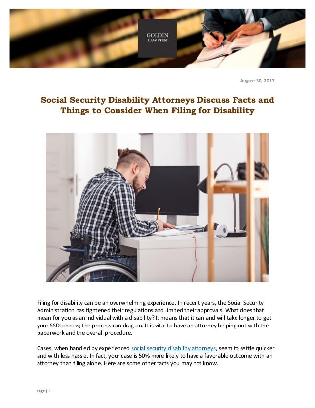 Social Security Disability Attorneys Discuss Facts and