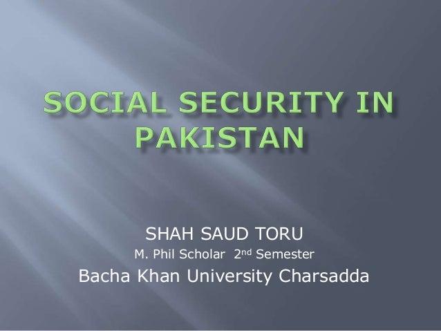 Social Security in Pakistan 2018 Slide 2