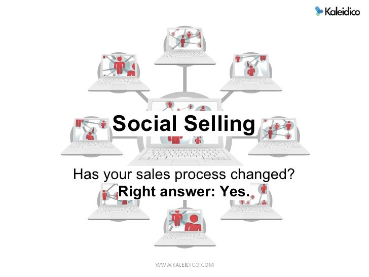 Social Selling  Has your sales process changed?       Right answer: Yes.
