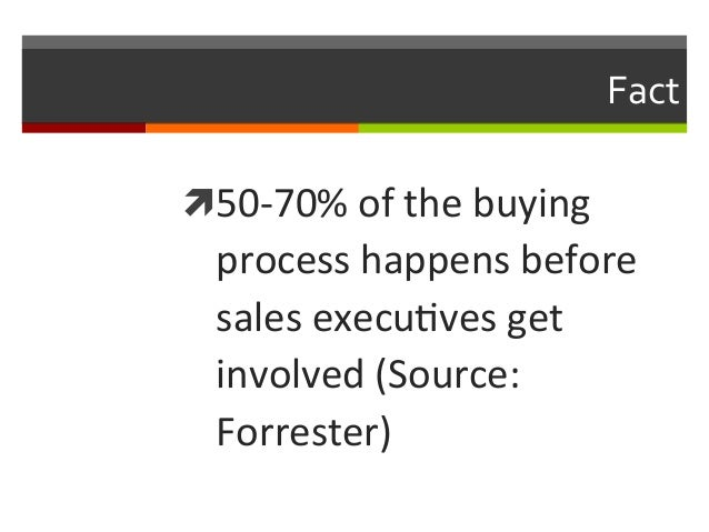 Fact   ì50-‐70%  of  the  buying    process  happens  before   sales  execuNves  get   involved ...