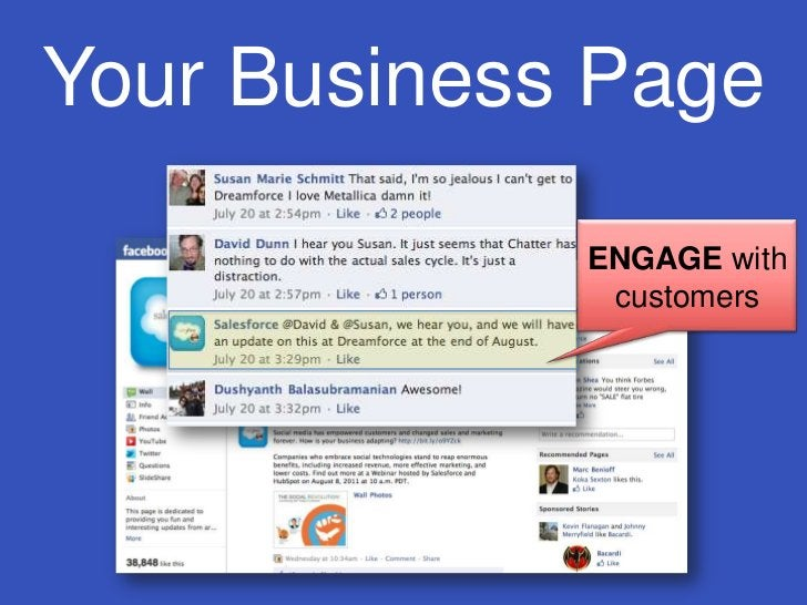 Your Business Page<br />ENGAGE with customers<br />