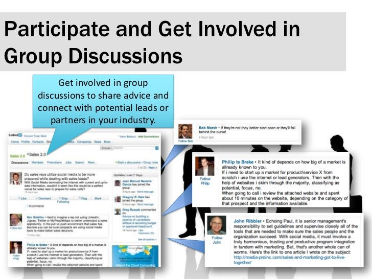 Participate and Get Involved in Group Discussions <br />Get involved in group discussions to share advice and connect with...