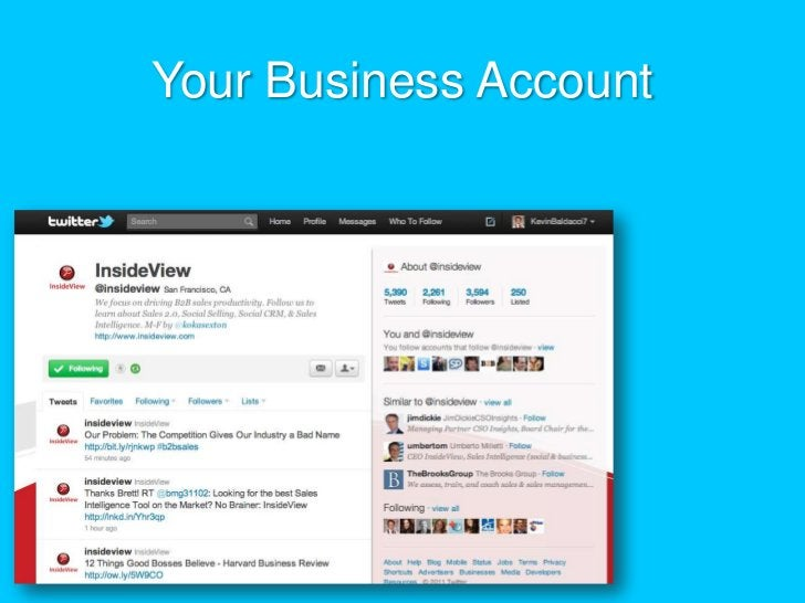 Your Business Account<br />