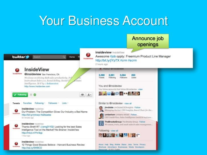 Your Business Account<br />Announce job openings<br />