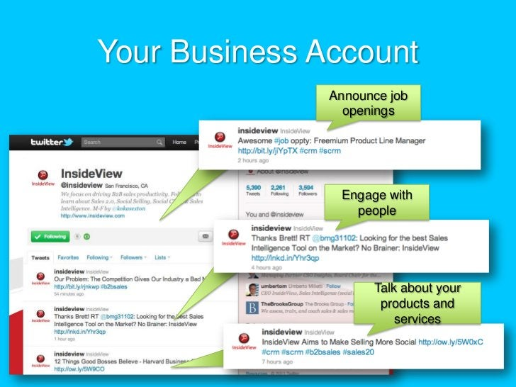 Your Business Account<br />Announce job openings<br />Engage with people<br />Talk about your products and services <br />