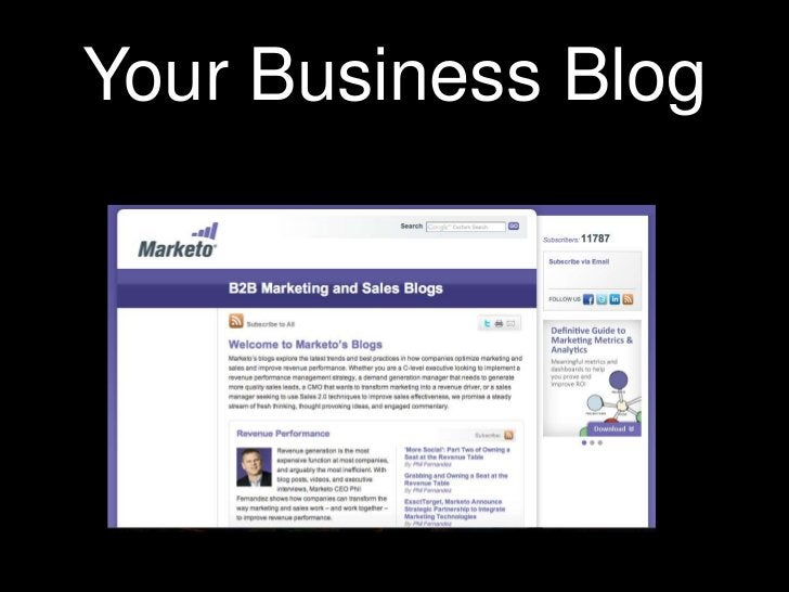 Your Business Blog<br />
