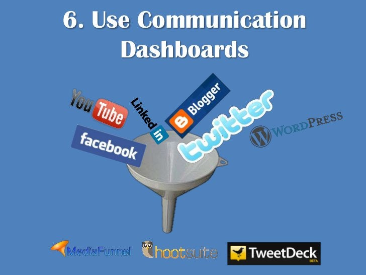 6. Use Communication Dashboards <br />