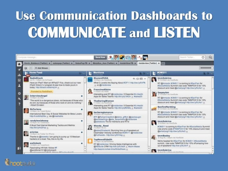 Use Communication Dashboards to COMMUNICATE and LISTEN<br />