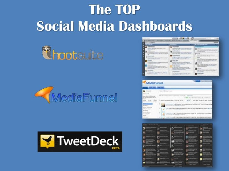 The TOP Social Media Dashboards <br />