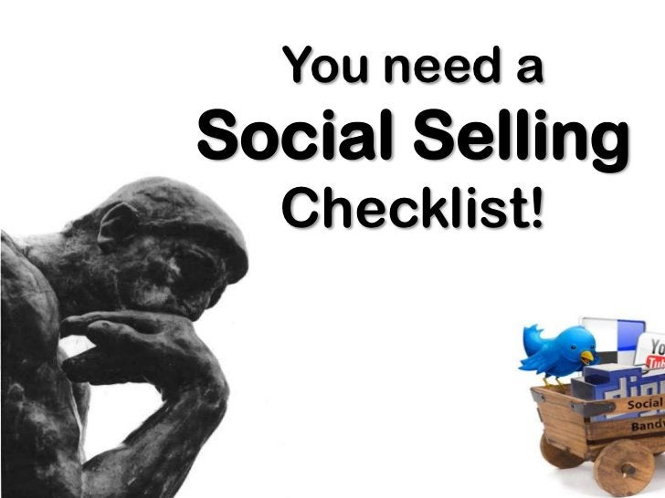 You need a Social Selling Checklist!<br />
