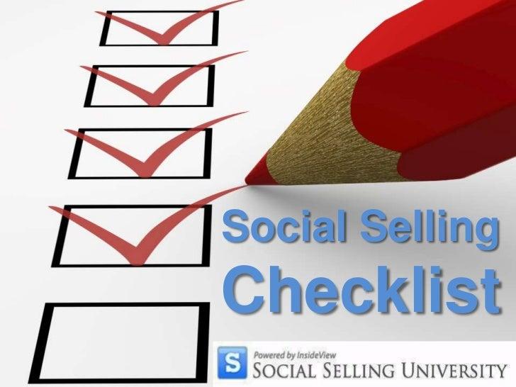 Social Selling Checklist<br />
