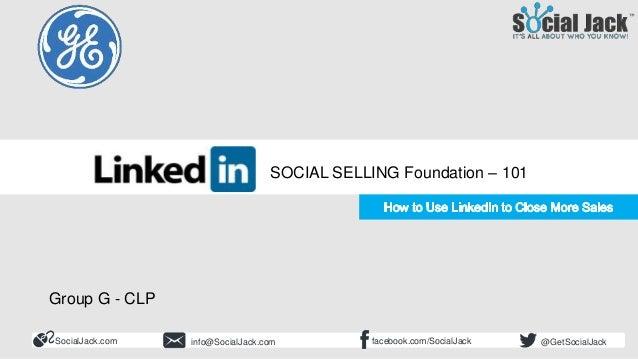 How to Use LinkedIn for New Business Development Social Selling 101 Foundation and LinkedIn Beginner SocialJack.com facebo...