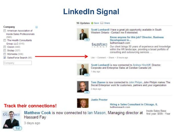 LinkedIn Signal Track their connections!