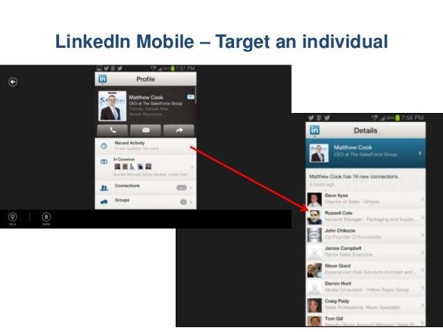 LinkedIn Mobile – Target an individual