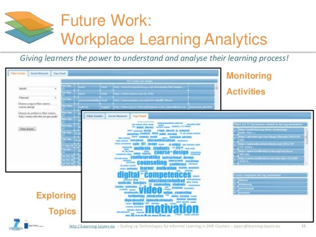 http://Learning-Layers-eu Future Work: Workplace Learning Analytics Giving learners the power to understand and analyse th...