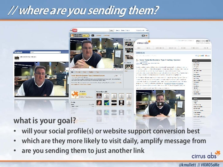 // where are you sending them? what is your goal? • will your social profile(s) or website support conversion best • which...